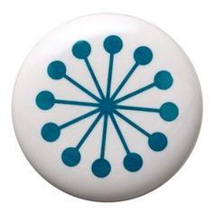 Gałka z niebieskim wzorem, typ 2
