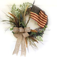 Memorial Day~Fourth of July~Mother's Day Wreath~patriotic~American Flag | Home & Garden, Holiday & Seasonal Décor, Easter & Spring | eBay!