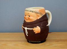1960s Friar Tuck Monk Tankard Mug Hummel by QueensParkVintage