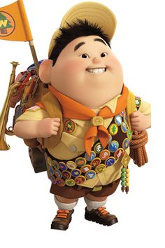 Russell from Pixar Movie Up Disney Up, Disney Love, Up Pixar, Pixar Movies, Russell Up Movie, Russel Up, Russell From Up, Up Movie Characters, Up Personajes