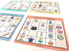 Bingo de Pâques Bingo, Jouer, Alice, Office Supplies, Diy, Education, Frame, Grands Parents, Tables