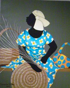 Cassandra Gillens Cassandra Gillens is a self-taught artist, residing in the Low Country of South Carolina, an area she cherish. African American Artist, American Artists, Afrique Art, Caribbean Art, American Quilt, Afro Art, Sewing Art, Human Art, A 17