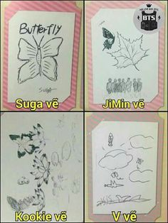 Aww ~ Taehyung-ah wants to draw like Jungkookie, I hope he keeps at it and improves how he wants!!
