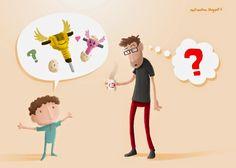 Pas toujours facile de s'y retrouver dans les mots d'enfants...  Pas facile, mais toujours marrant!  (tiré d'une histoire vraie de vrai, qui plus est!) Knock Knock, True Stories, Words, Children