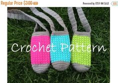 Crochet Water Bottle Holder Pattern - This is not a finished product - !!PATTERN ONLY!!  Pouch measures 8 around X 7 tall. Will fit a bottle of water and will stretch to fit larger reusable water bottles.   Great for hiking, the beach, trail walks, kids sporting events and much more!!!    This pattern in great for beginners - experienced You will need: worsted weight yarn G Hook   This pattern has been tested. However, if you have any questions, do not hesitate to ask. You can message me…