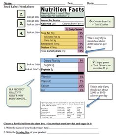 "FOOD LABEL READING LESSON FREE: Ever had a student ask, ""Is this product ""healthy?"" This lesson includes everything students should know about reading food labels and gives the formulas to figure out if a food is healthy enough to be in school vending machine (if a school is classified as a ""Healthy School"" a product must be less than 35% fat end less than 35% sugar, or no more than 15 grams of sugar). Have fun with this easy to follow lesson that teaches skills students will use for life!!"
