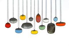 "Julia Turner ""Hive Necklaces"", 2013. Vitreous enamel on steel."