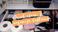 Quick Apartment Clean || Bathroom Organization || Dom's Style - YouTube Bathroom Cleaning, Bathroom Organization, Clean Up, Thankful, Make It Yourself, Youtube, Style, Swag, Stylus