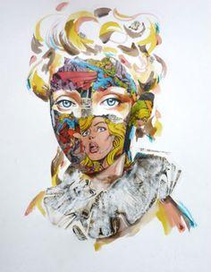 Stripboek collages van Sandra Chevrier - 2013