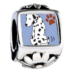 Grin Dalmatian Dog European Charms  Fit pandora,trollbeads,chamilia,biagi and any customized bracelet/necklaces. #Jewelry #Fashion #Silver# handcraft #DIY #Accessory