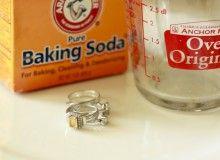 Boil 1C water, drop in jewelry, add 1T baking soda