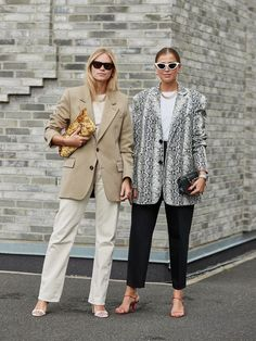 Blazers Were a Street Style Favorite at Copenhagen Fashion Week - Fashionista ⋆ Emily Clow Fasion Chic Styles - You Pin This Street Style Stockholm, Street Style Chic, Spring Street Style, Cool Street Fashion, Street Style Looks, London Fashion Weeks, New York Fashion, Milan Fashion, Swag Style