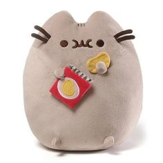 Your child will love the adorable Pusheen Potato Chips Plush Toy from Gund. This soft and cute plush toy features the silly cat Pusheen eating a bag of potato chips and makes for a great cuddle companion for your little one. Chat Pusheen, Pusheen Cat Plush, Pusheen Toys, Nyan Cat, Pusheen Stuffed Animal, Stuffed Animals, Grey Tabby Cats, Siamese Cats, Chip Bags