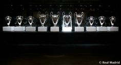 10 champions league trophies of Real madrid Real Madrid Champions League, Madrid Football Club, C Real, Trophies And Medals, Trophy Rooms, Live Matches, European Cup, European Football, Soccer