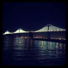 Bay Bridge lights SF 2013