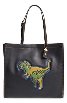 COACH 1941 'Skinny 34 Rexy' Dinosaur Embossed Leather Tote