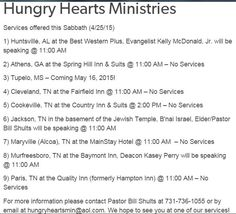 Services this week