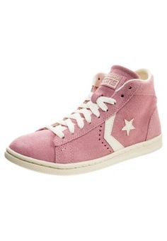 CHUCK TAYLOR ALL STAR MID PRO LEATHER LP SUEDE ZIP - Sneaker high - dusty pink/off white
