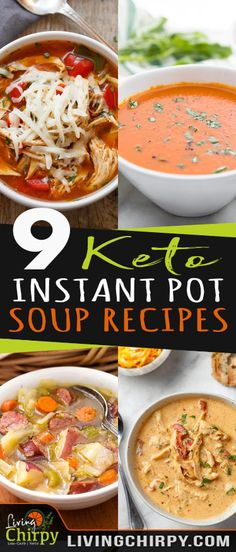 9 Keto Instant Pot Soup Recipes are a great option because I can make it ahead of time or freeze the leftovers for another day. Here are 9 Keto Instant Pot Soup Recipes to get inspired by… Keto Desserts, Dessert Recipes, Breakfast Recipes, Pimientos Rellenos Keto, Healthy Recipes, Diet Recipes, Delicious Recipes, Recipies, Instant Pot