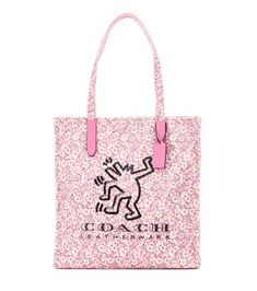 COACH X Keith Haring embellished canvas tote