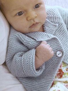 Debbie Bliss Garter Stitch Cardigan, Baby Cashmerino 50g = 125m (12 wpi Aus 5ply, UK light weight, USA sport weight, tension 25 sts x 33 rows = 10 cm on 3.25mm needles)