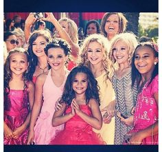 Maddie, Brooke, Kendall, Mackenzie, Chole, Paige, and Nia from Dance Moms!