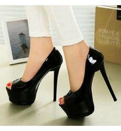 136e87696 Peep Toe Love Myun Preto - Compre Agora | Shopping City - Seu estilo o que  Importa !