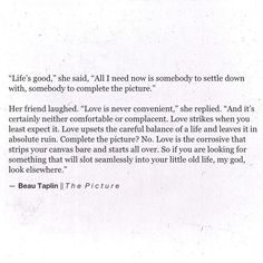 Beau Taplin   The Picture