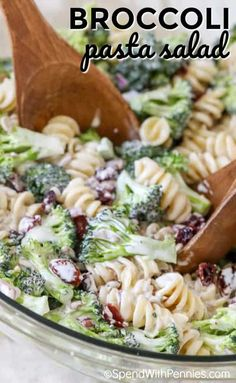 Broccoli pasta salad combines our favorite sweet tangy broccoli salad with tender pasta for the perfect potluck dish! Broccoli pasta salad combines our favorite sweet tangy broccoli salad with tender pasta for the perfect potluck dish! Potluck Dishes, Potluck Recipes, Pasta Dishes, Cooking Recipes, Healthy Recipes, Potluck Salad, Dinner Recipes, Cooking Broccoli, Cooking Beets