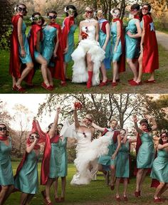 Superhero wedding. Adorable