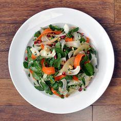 Winter Salad with Fennel, Watercress, Pomegranate, and Hazelnut Vinaigrette