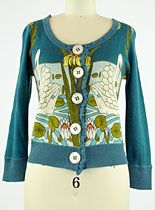 Similar Swans Cardigan at PLASTICLAND    Love this cute sweater.