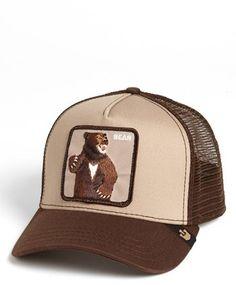 Men's Goorin Brothers 'Animal Farm - Lone Star Bear' Trucker Hat - Brown