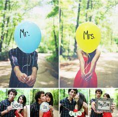 LOVE the Balloons! Looks like a fun couple!