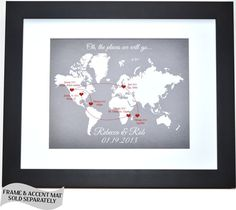 Unique Relationship History Gift Our Love Story Map: Personalized 25 50th 1st Anniversary Gifts Wedding Gift Men Unique Picture Print Sign