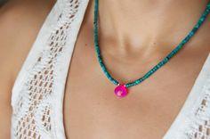 Collar de turquesa simple collar de turquesa por ViDaJewelryDesigns