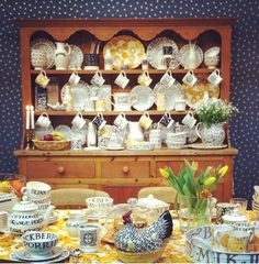 Pottery in English Dresser and Table Setting by Emma Bridgewater Toast & Marmalade at the NEC Spring Show 2014