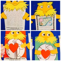 The #Lorax by Dr.Seuss writing craftivity. My students love the story and enjoyed the activity.  #Earthday
