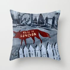 London Throw Pillow by Christiane Engel