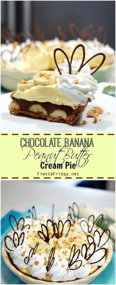 chocolate banana peanut butter cream pie