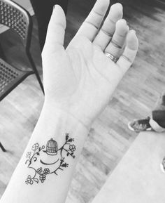 """So, you are getting wrist tattoos huh? – I have always wanted to get a tattoo. The wrist is probably one of the best """"locations"""" on your body for art. Cute Tattoos On Wrist, Flower Wrist Tattoos, Wrist Tattoos For Women, Dainty Tattoos, Symbolic Tattoos, Unique Tattoos, Small Tattoos, Cage Tattoos, Body Art Tattoos"""