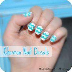 chevron nail decals