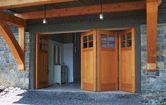 Custom Side Folding Garage Doors - contemporary - garage doors - new york - NEWwoodworks