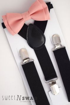 SUSPENDER & BOWTIE SET.  Newborn  Adult sizes. Black by SweetnSwag, $8.50-- Super cute for our ring bearer