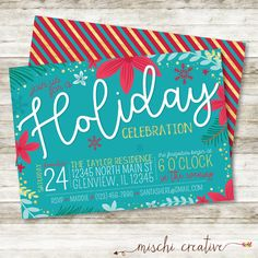 Holiday Christmas Party Digital Printable by MischiCreative
