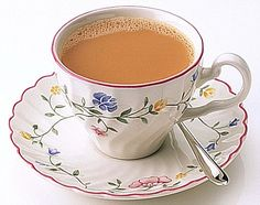 A lovely cup of Rosie Lee (That's tea to all you non-Brits).  British people have a special gland in the brain called the gaggingforacuppa gland. If we don't receive an input of tea on a three hourly basis the gland goes into crisis mode and we are completely unable to function. Contrary to popular belief tea does not need to be served in a fancy cup and saucer. Mug, flask, bucket... it's all tea!