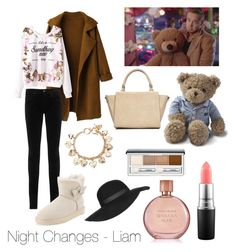 """""""Night Changes - Liam"""" by marietommo14 on Polyvore featuring Payne, WithChic, AG Adriano Goldschmied, UGG Australia, Wallis, Lexington, MAC Cosmetics, Estée Lauder, Clinique and Forever 21"""