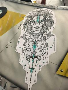 #tattoo #lion #mandalastyle