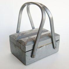Vintage Marbled Gray Lucite Handbag. #purses #handbags #bags #vintage #accessories
