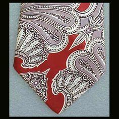 Men's Vintage Necktie 1940's - 1950's Silk Neck Tie Gift for a Man